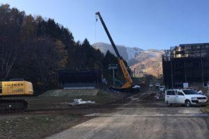 niseko resort lift construction progress