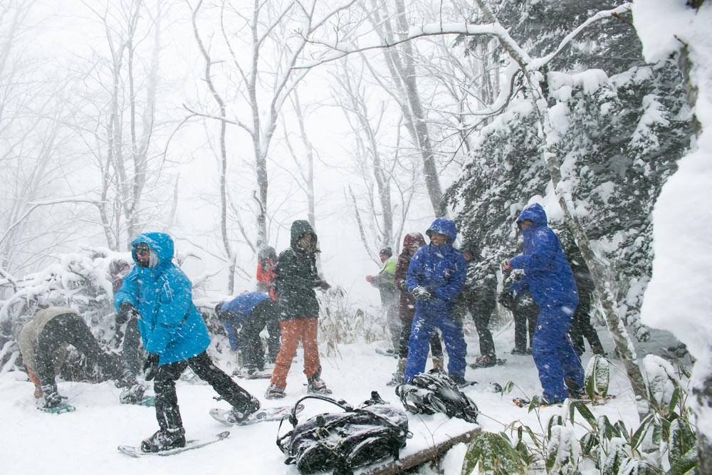 Niseko Snowshoe - Snowball Fight